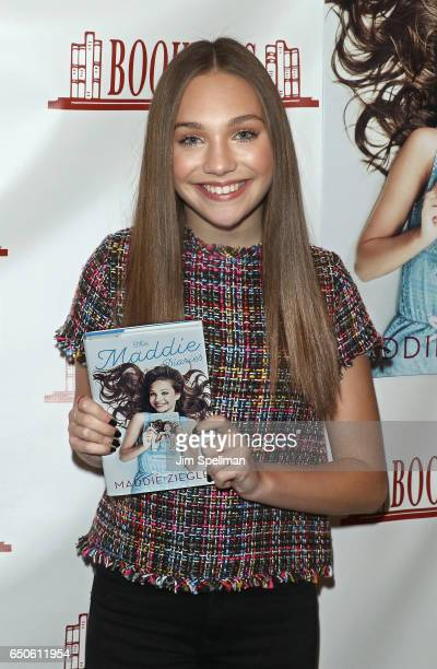 Dancer Maddie Ziegler signs copies of 'The Maddie Diaries' at Bookends Bookstore on March 9 2017 in Ridgewood New Jersey