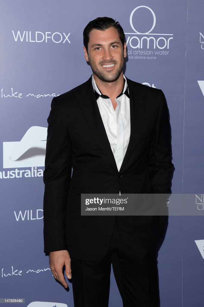 Dancer <a gi-track='captionPersonalityLinkClicked' href=/galleries/search?phrase=Maksim+Chmerkovskiy&family=editorial&specificpeople=4251170 ng-click='$event.stopPropagation()'>Maksim Chmerkovskiy</a> arrives at Australians In Film Awards & Benefit Dinner at InterContinental Hotel on June 27, 2012 in Century City, California.
