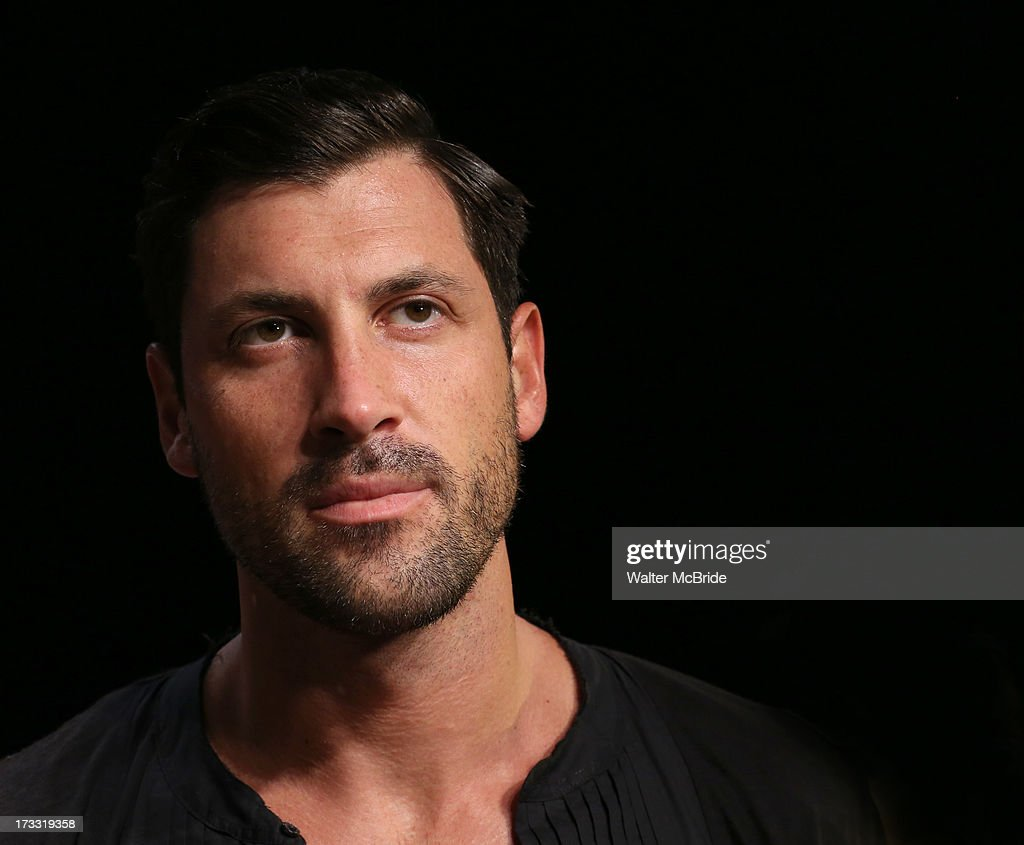 Dancer <a gi-track='captionPersonalityLinkClicked' href=/galleries/search?phrase=Maksim+Chmerkovskiy&family=editorial&specificpeople=4251170 ng-click='$event.stopPropagation()'>Maksim Chmerkovskiy</a> attends 'Forever Tango' Press Preview at Walter Kerr Theatre on July 11, 2013 in New York City.