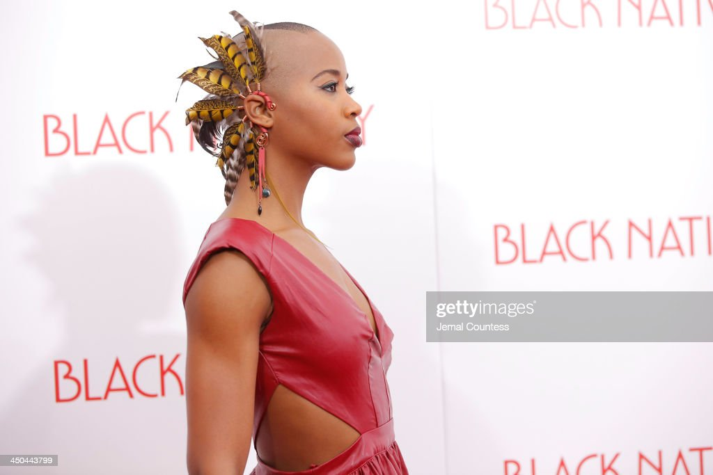 Dancer Marija Abney attends the'Black Nativity' premiere at The Apollo Theater on November 18, 2013 in New York City.