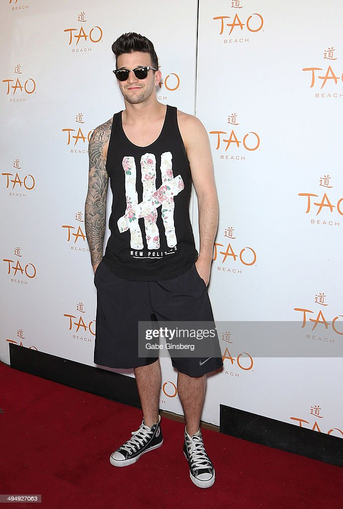 Dancer Mark Ballas arrives at a birthday celebration hosted by Cheryl Burke at the Tao Beach at The Venetian Las Vegas on May 31, 2014 in Las Vegas, Nevada.