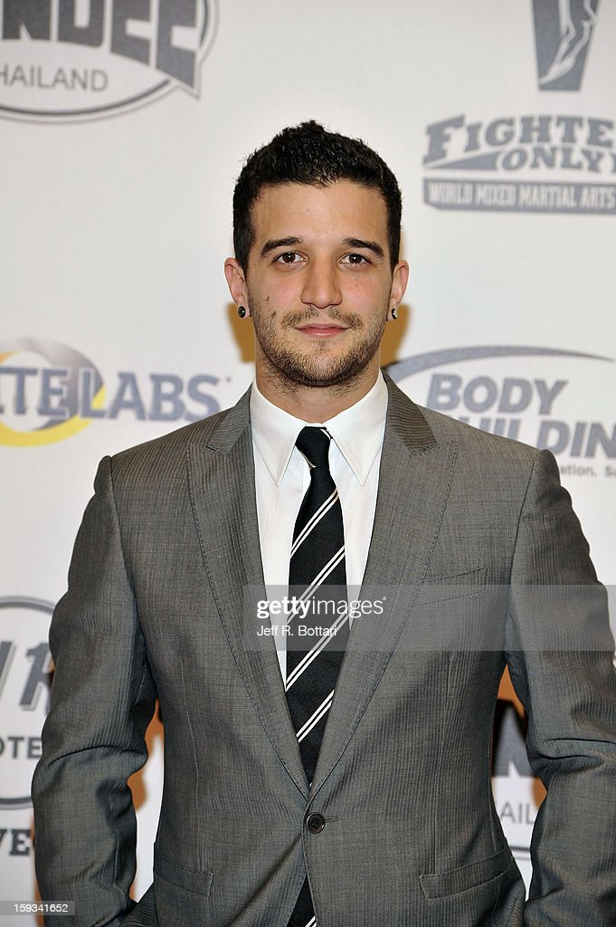 Dancer <a gi-track='captionPersonalityLinkClicked' href=/galleries/search?phrase=Mark+Ballas&family=editorial&specificpeople=4531129 ng-click='$event.stopPropagation()'>Mark Ballas</a> arrives at the Fighters Only World Mixed Martial Arts Awards at the Hard Rock Hotel & Casino on January 11, 2013 in Las Vegas, Nevada.