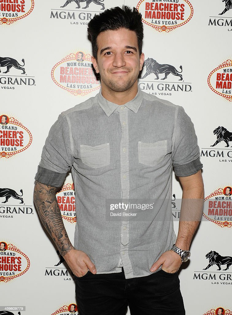 Dancer <a gi-track='captionPersonalityLinkClicked' href=/galleries/search?phrase=Mark+Ballas&family=editorial&specificpeople=4531129 ng-click='$event.stopPropagation()'>Mark Ballas</a> arrives at the opening weekend celebration at Beacher's Madhouse Las Vegas at the MGM Grand Hotel/Casino on December 30, 2013 in Las Vegas, Nevada.