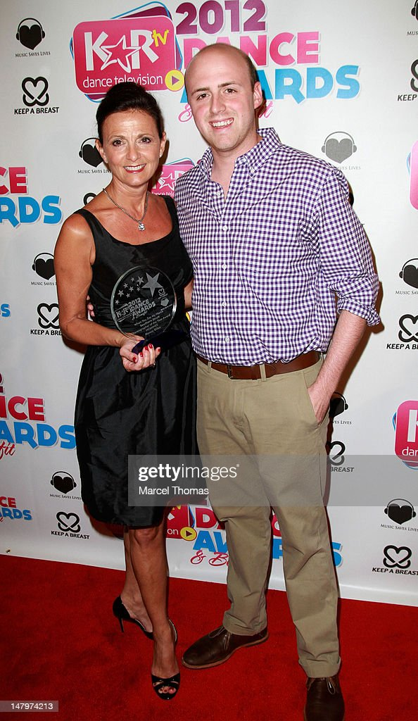 Dancer Mary Spaniola and son/dancer Jordan Leitson attend the Kids Artistic Revue 'KAR ' TV Dance Awards at MGM Grand on July 6, 2012 in Las Vegas, Nevada.
