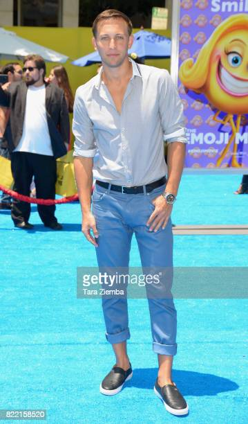 Dancer Matt Steffanina attends the premiere of Columbia Pictures and Sony Pictures Animation's 'The Emoji Movie' at Regency Village Theatre on July...