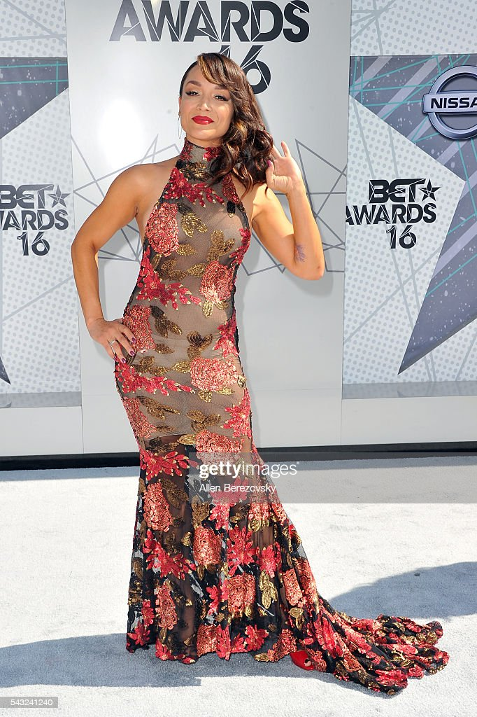 Dancer Mayte Garcia attends the 2016 BET Awards at Microsoft Theater on June 26, 2016 in Los Angeles, California.