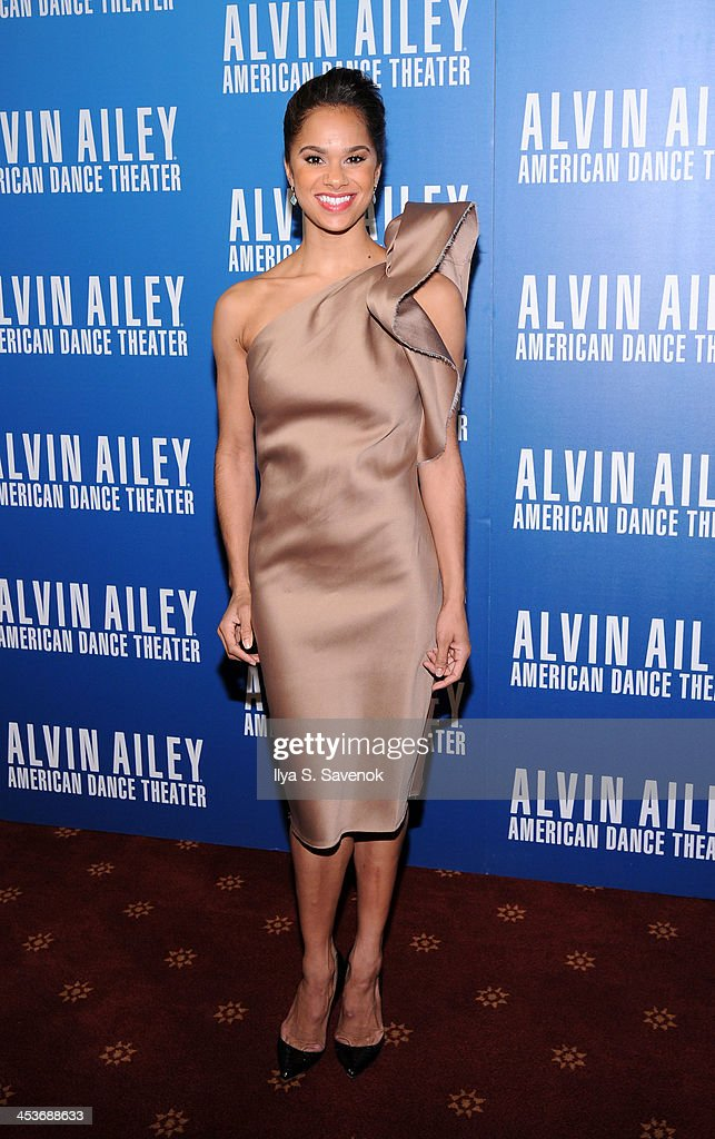 Dancer <a gi-track='captionPersonalityLinkClicked' href=/galleries/search?phrase=Misty+Copeland&family=editorial&specificpeople=2444160 ng-click='$event.stopPropagation()'>Misty Copeland</a> attends the 2013 Alvin Ailey American Dance Theater's opening night benefit gala at New York City Center on December 4, 2013 in New York City.