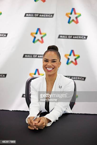 Dancer Misty Copeland signs copies of her new book 'Life In Motion' at Mall of America on April 4 2014 in Bloomington Minnesota