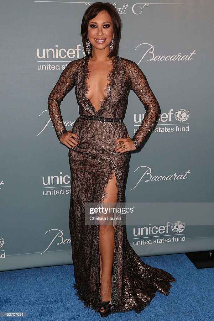 Dancer / model Cheryl Burke arrives at the 2014 UNICEF Ball presented by Baccarat at Regent Beverly Wilshire Hotel on January 14, 2014 in Beverly Hills, California.