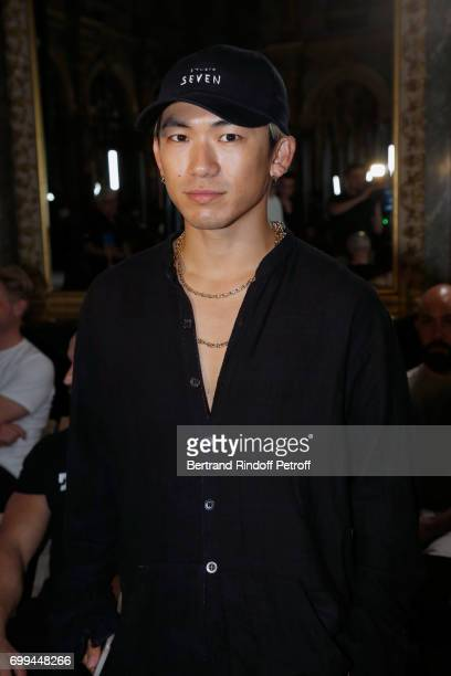 Dancer Naoto Kataoka attends the Haider Ackermann Menswear Spring/Summer 2018 show as part of Paris Fashion Week on June 21 2017 in Paris France