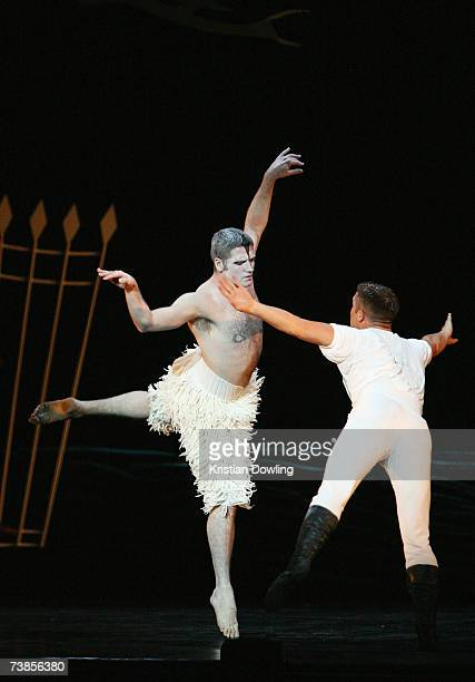 Dancer Nick Cunningham of Australia performs during rehearsal for the Melbourne leg of Matthew Bourne's reinvention of Tchaikovsky's Swan Lake at the...