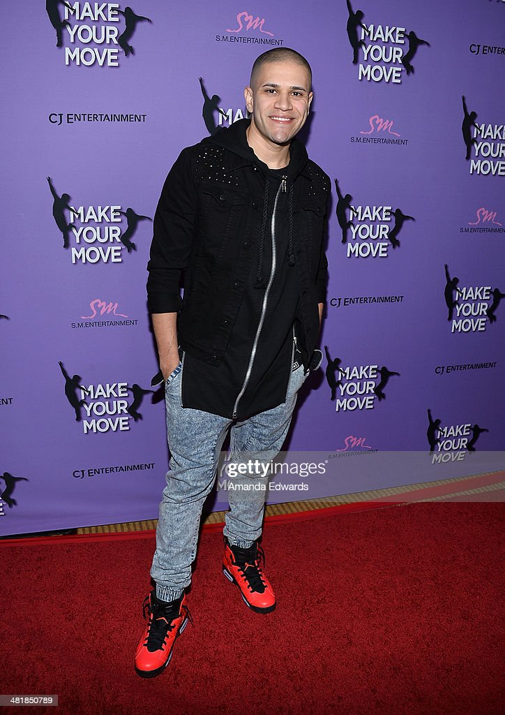 Dancer Nick Gonzalez arrives at the Los Angeles premiere of 'Make Your Move' at Pacific Theaters at the Grove on March 31, 2014 in Los Angeles, California.