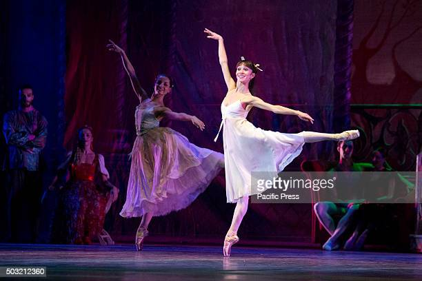 A dancer of Teatro San Carlo dance in 'Teatro San Carlo' of Naples during a ballet called 'The Nutcracker' with the music of Pëtr Il'i ajkovskij