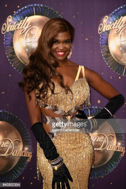 Dancer Oti Mabuse attends the 'Strictly Come Dancing 2017' red carpet launch at The Piazza on August 28 2017 in London England