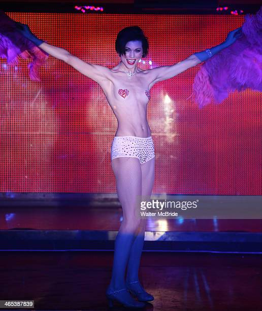 Dancer performing in Broadway Bares Winter Burlesque Calendar Girl at XL Nightclub on January 26 2014 in New York City