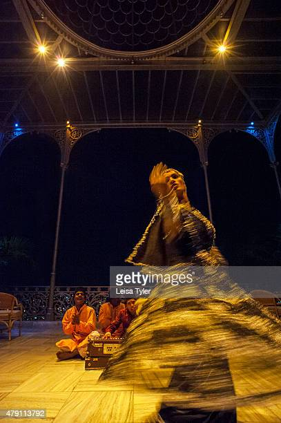 PALACE HYDERABAD TELANGANA INDIA A dancer performs at Falaknuma Palace in Hyderabad a rambling scorpion shaped mansion meaning mirror of the sky and...