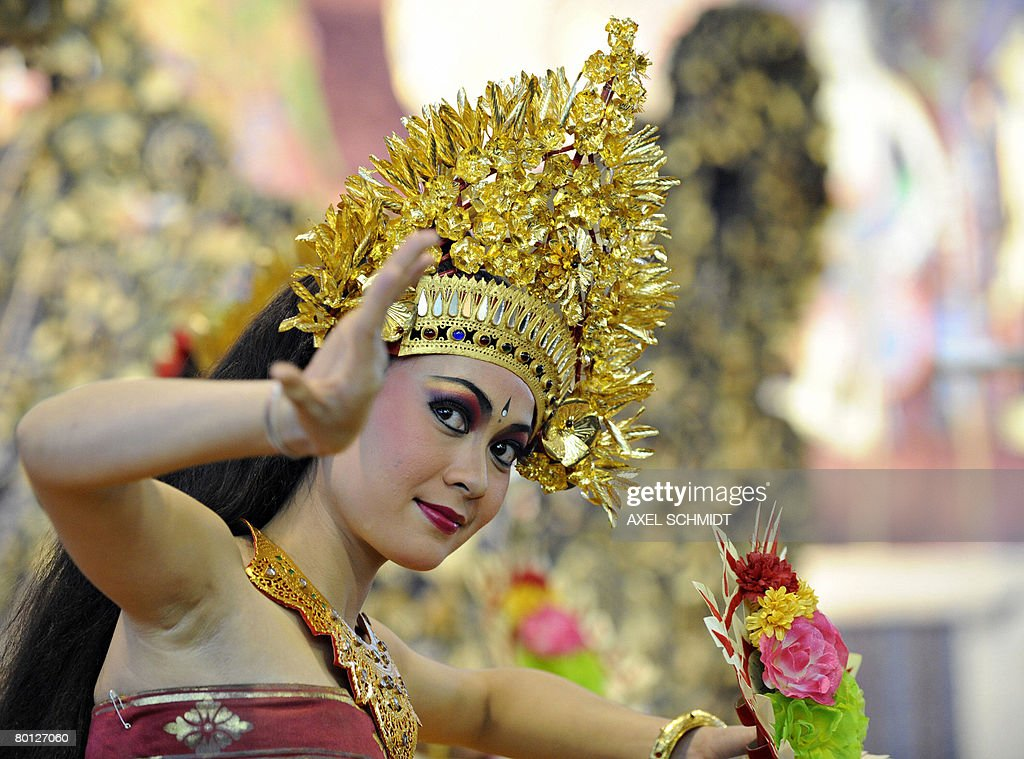 A dancer performs on March 5 2008 at the booth of Indonesia on the fair grounds of the Internationale Tourismus Boerse Travel Trade Show in Berlin...
