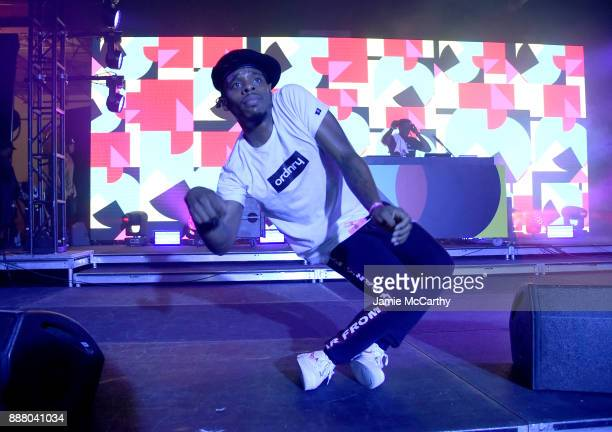 Dancer performs on stage at BACARDI Swizz Beatz and The Dean Collection bring NO COMMISSION back to Miami to celebrate 'Island Might' at Soho Studios...