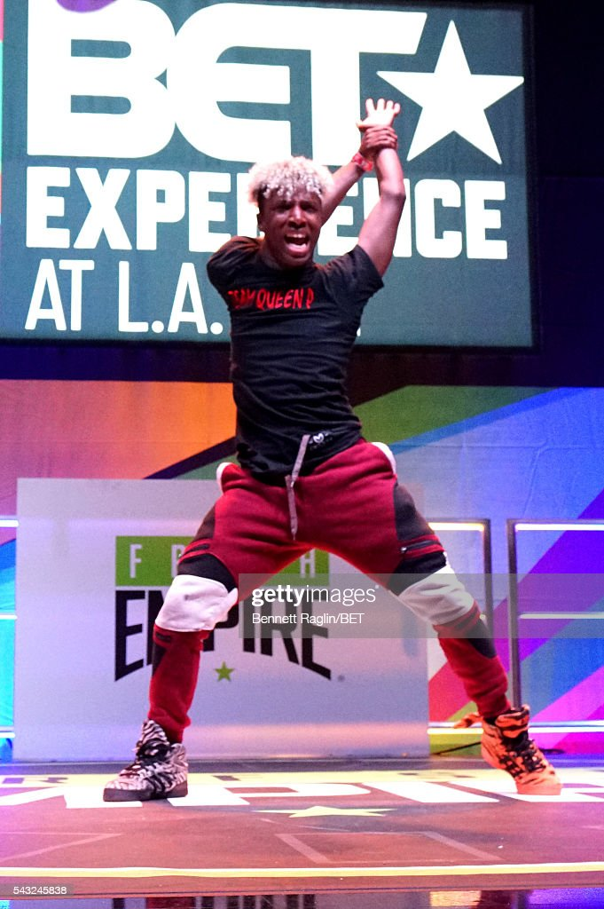 Dancer performs on the BETX stage during the 2016 BET Experience on June 26, 2016 in Los Angeles, California.