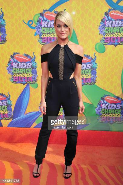 Dancer Peta Murgatroyd attends Nickelodeon's 27th Annual Kids' Choice Awards held at USC Galen Center on March 29 2014 in Los Angeles California