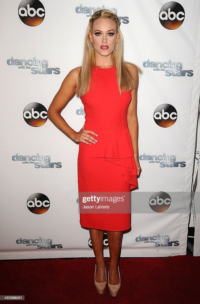 Dancer <a gi-track='captionPersonalityLinkClicked' href=/galleries/search?phrase=Peta+Murgatroyd&family=editorial&specificpeople=6824437 ng-click='$event.stopPropagation()'>Peta Murgatroyd</a> attends the 'Dancing With The Stars' wrap party at Sofitel Hotel on November 26, 2013 in Los Angeles, California.