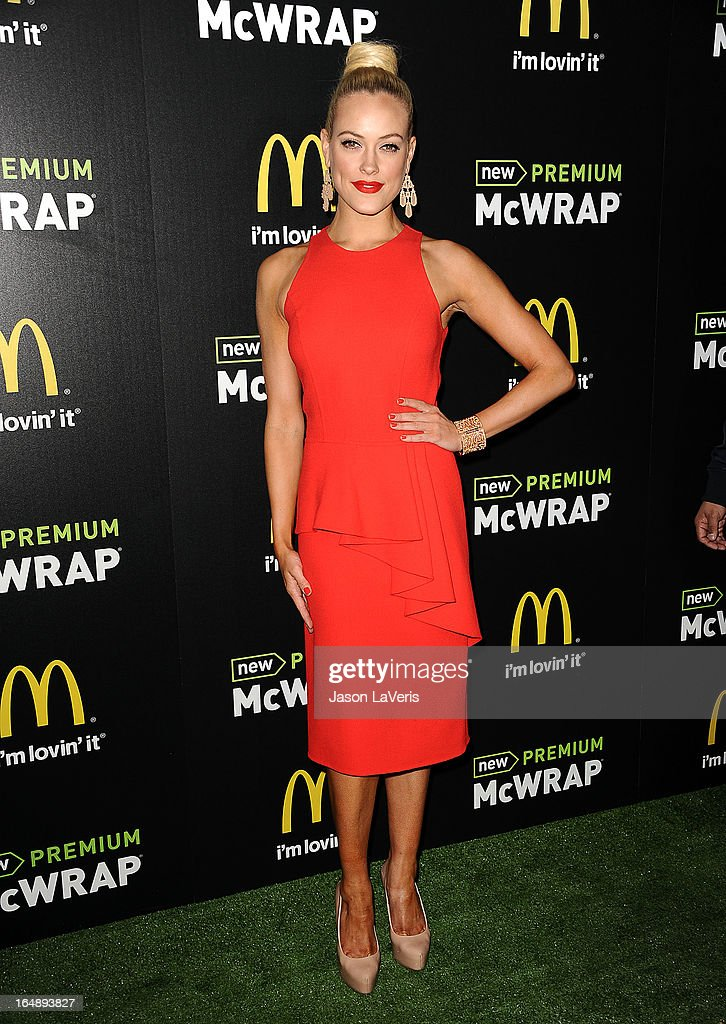Dancer Peta Murgatroyd attends the McDonald's Premium McWrap launch party at Paramount Studios on March 28, 2013 in Hollywood, California.