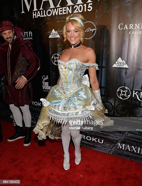 Dancer Peta Murgatroyd attends The Official MAXIM Halloween Party produced by Karma International on October 24 2015 in Beverly Hills California