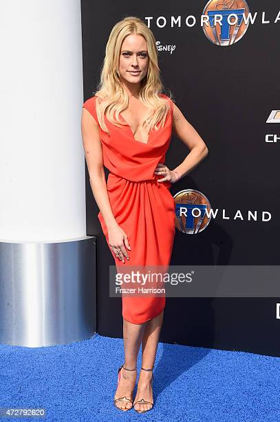 Dancer Peta Murgatroyd attends the premiere of Disney's 'Tomorrowland' at AMC Downtown Disney 12 Theater on May 9 2015 in Anaheim California