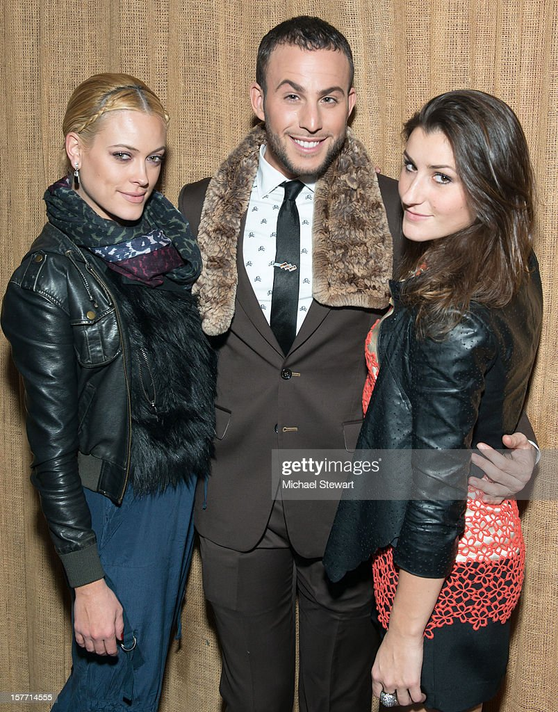 Dancer Peta Murgatroyd, blogger Micah Jesse and Nicole Volynets attend 'Baby I'm A Star' at Mister H on December 5, 2012 in New York City.