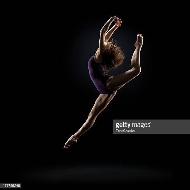 Dancer pose on black background