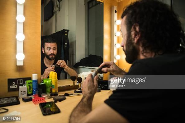 A dancer prepares backstage before performing Eva Yerbabuena's 'Apariencias' Part of The Sadlers Wells Flamenco festival at Sadlers Wells Theatre on...
