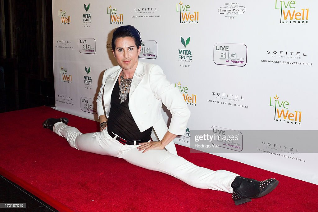 Dancer Ricky Rebel arrives at 'Live Big With Ali Vincent' Season 3 launch party at Sofitel Hotel on July 8, 2013 in Los Angeles, California.