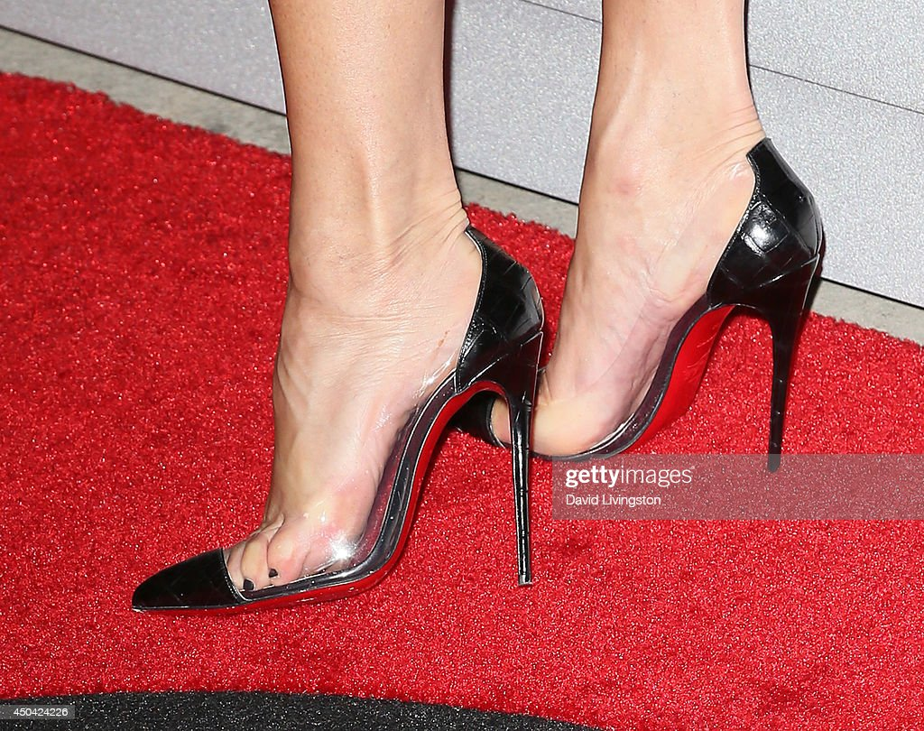 Dancer Robin Antin (shoe detail) attends the Maxim Hot 100 event at the Pacific Design Center on June 10, 2014 in West Hollywood, California.