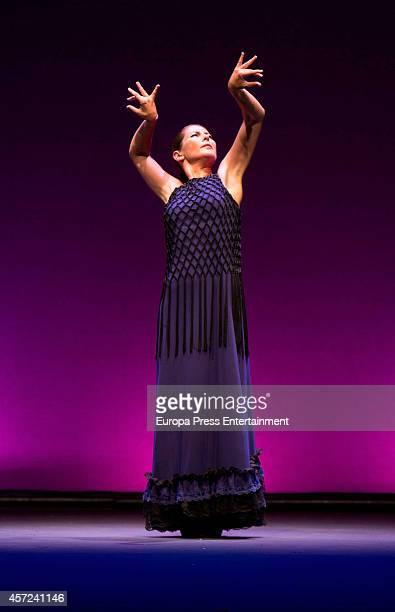 Dancer Sara Baras presents 'La Pepa' dance show at Compac Gran Via Theatre on October 14 2014 in Madrid Spain