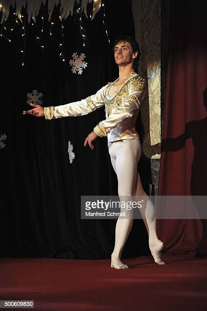 Dancer Sergei Polunin performs at the Energy For Life christmas ball for children at Hofburg Vienna on December 9 2015 in Vienna Austria