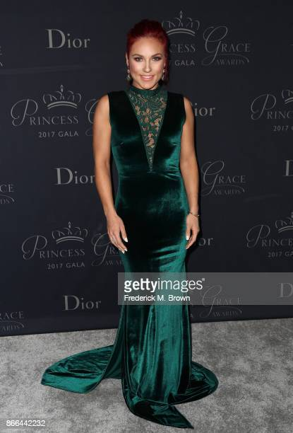 Dancer Sharna Burgess attends 2017 Princess Grace Awards Gala at The Beverly Hilton Hotel on October 25 2017 in Beverly Hills California
