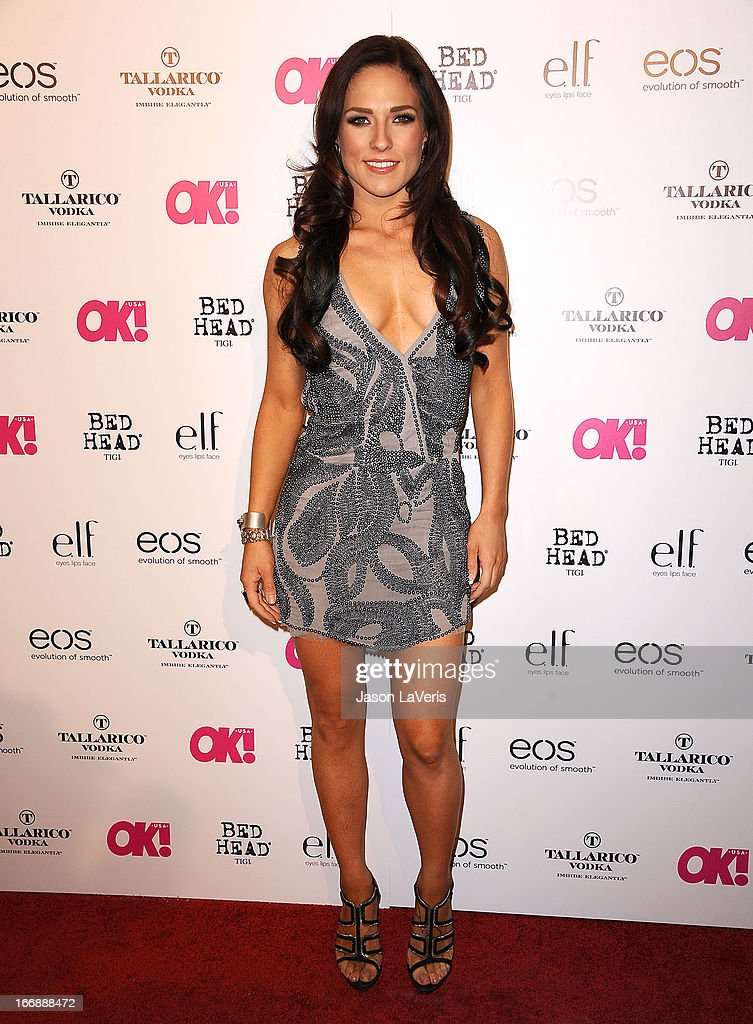 Dancer Sharna Burgess attends OK! Magazine's annual 'So Sexy' party at SkyBar at the Mondrian Los Angeles on April 17, 2013 in West Hollywood, California.