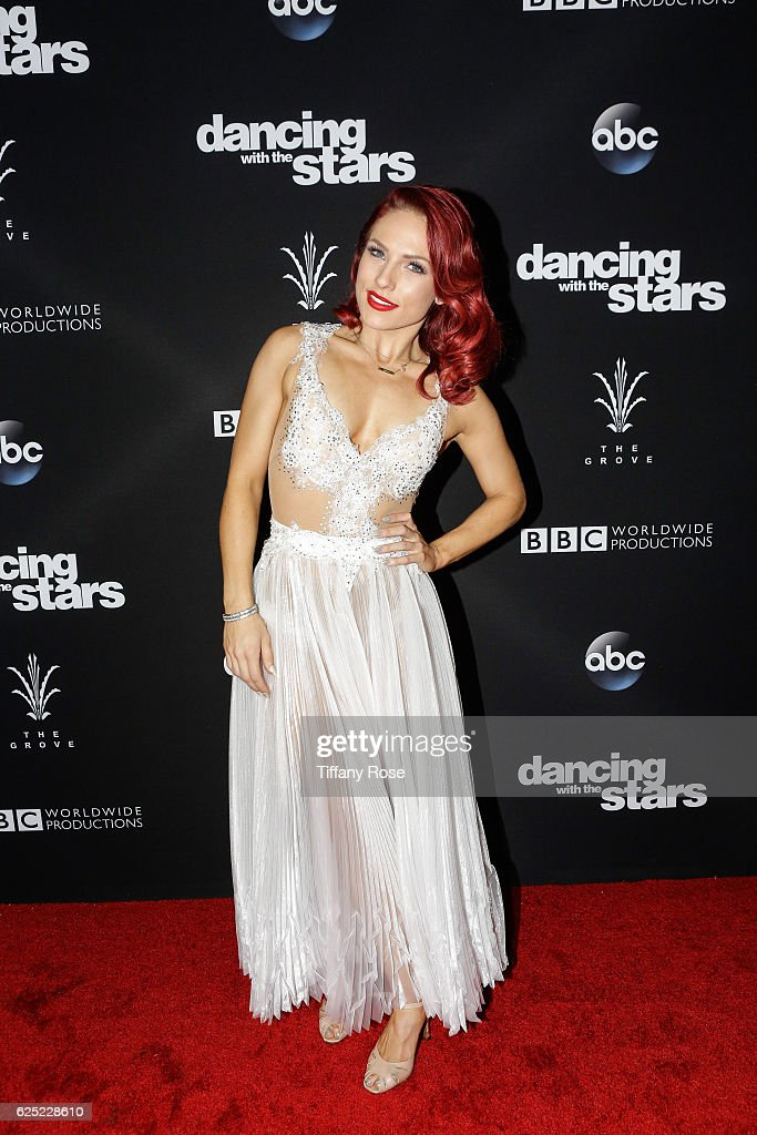Dancer Sharna Burgess attends the 'Dancing With The Stars' live finale at The Grove on November 22, 2016 in Los Angeles, California.