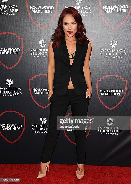 Dancer Sharna Burgess attends the unveiling of Warner Bros Studio expansion at Warner Bros Studios on July 14 2015 in Burbank California