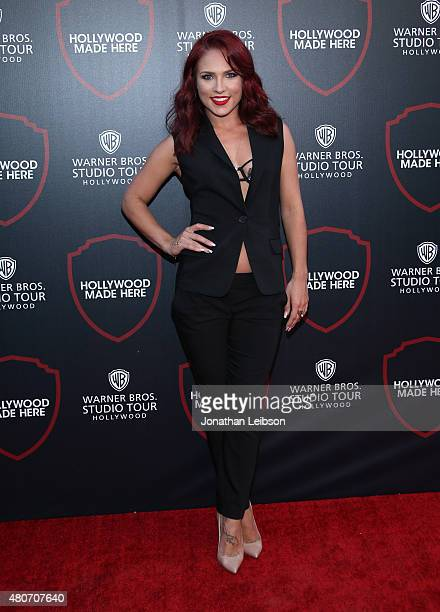 Dancer Sharna Burgess attends the Warner Bros Studio Tour Hollywood Expansion Official Unveiling Stage 48 Script To Screen at Warner Bros Studios on...
