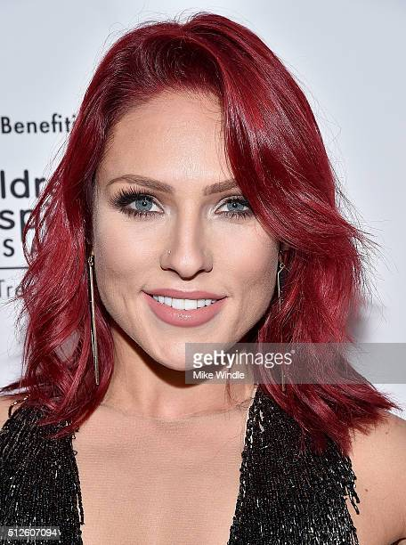 Dancer Sharna Burgess attends Vanity Fair L'Oreal Paris Hailee Steinfeld host DJ Night at Palihouse Holloway on February 26 2016 in West Hollywood...