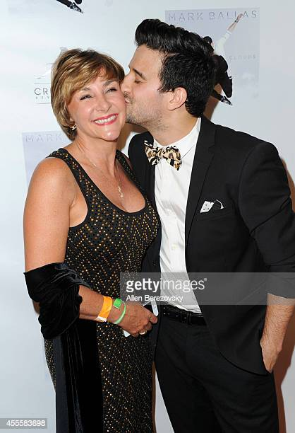 Dancer Shirley Ballas and singer Mark Ballas attend Mark Ballas Debuts EP 'Kicking Clouds' at Crustacean on September 16 2014 in Beverly Hills...