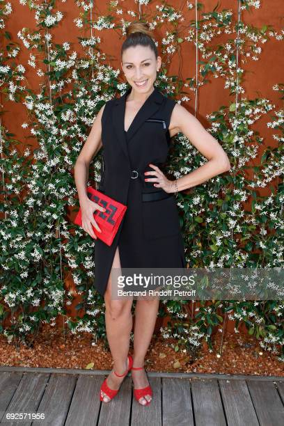 Dancer Silvia Notargiacomo attends the 2017 French Tennis Open Day Height at Roland Garros on June 4 2017 in Paris France