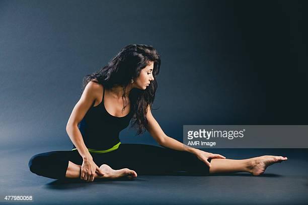 Dancer stretching