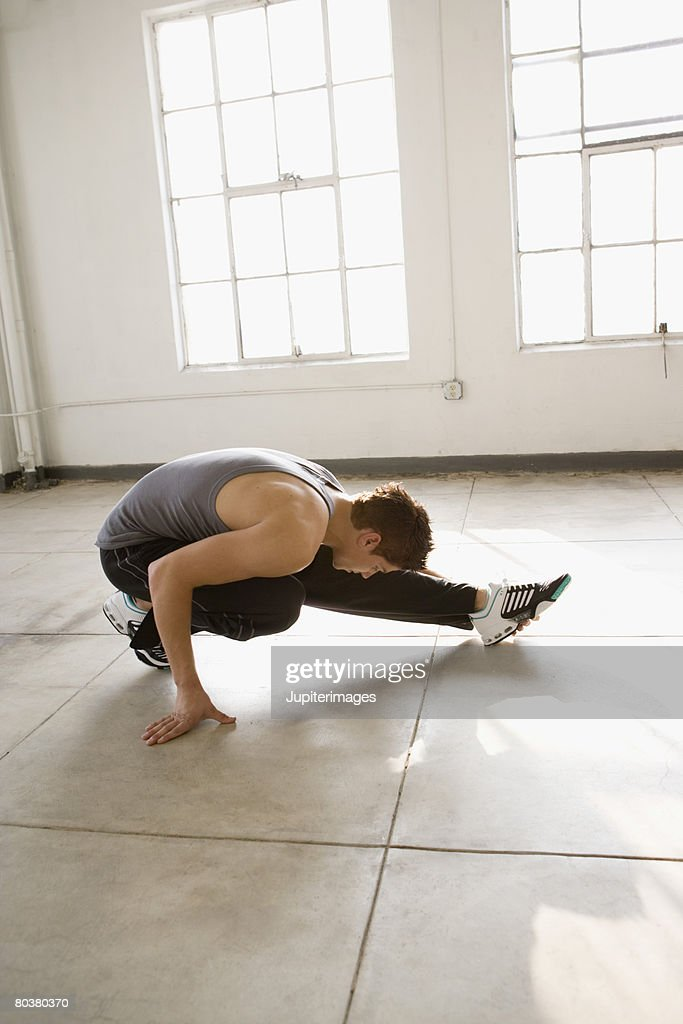 Dancer stretching : Stock Photo