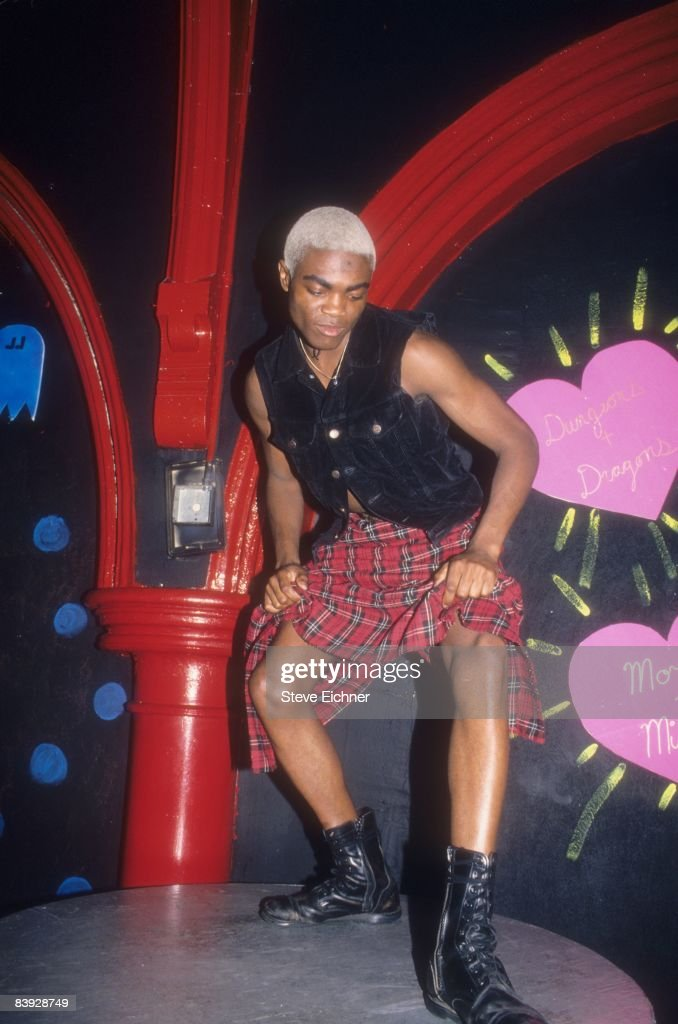 A dancer struts his stuff at the nightclub Limelight, 1994. New York.