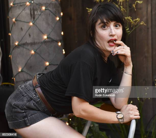 Dancer Tallie Medel poses for portrait at the screening of 'Snowy Bing Bongs' at The CineFamily on August 15 2017 in Los Angeles California