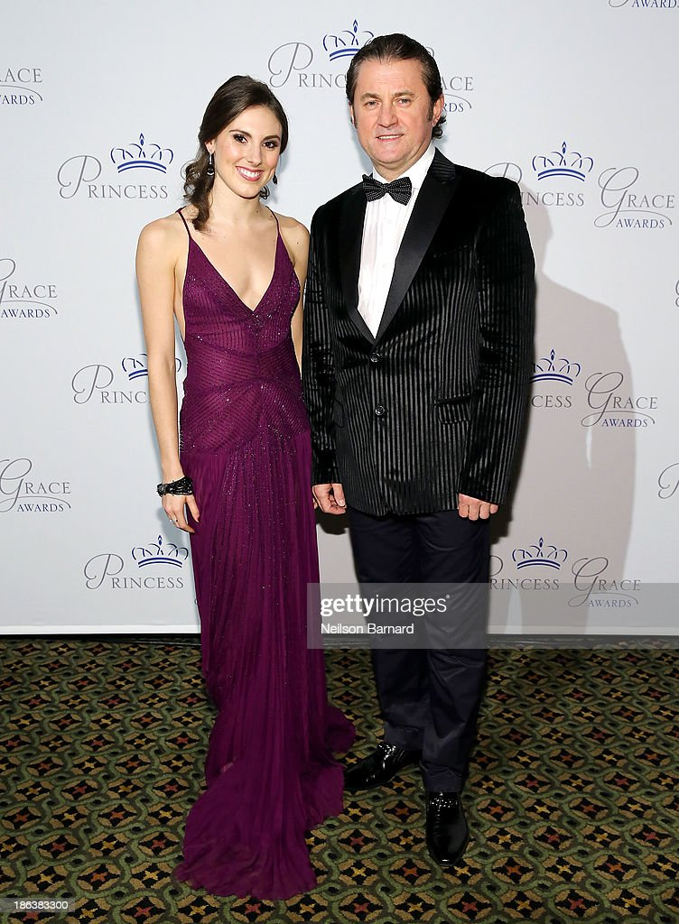 Dancer Tiler Peck and Alex Soldier attend the 2013 Princess Grace Awards Gala at Cipriani 42nd Street on October 30, 2013 in New York City.