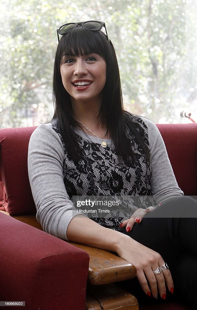 Dancer turned actor Lauren Gottlieb during an interview at HT House on February 6, 2013 in New Delhi, India. Her upcoming movie Anybody Can Dance is releasing worldwide on February 8, 2013. It is also releasing in Tamil titled as Aadalam Boys Chinnatha Dance.