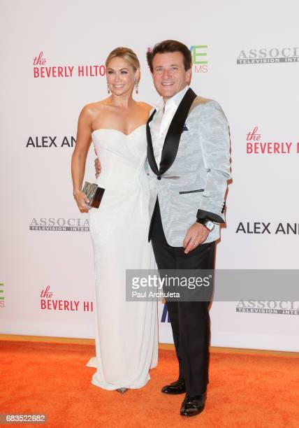 Dancer / TV Personality Kym Johnson and Businessman / TV Personality Robert Herjavec attend the 24th annual Race To Erase MS Gala at The Beverly...